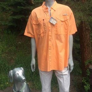 NEW Columbia PFG Button Down Shirt